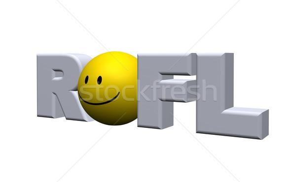 Kelime 3d illustration gülümseme imzalamak Stok fotoğraf © drizzd
