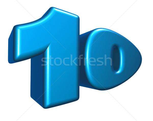 числа десять Cartoon белый 3d иллюстрации летию Сток-фото © drizzd