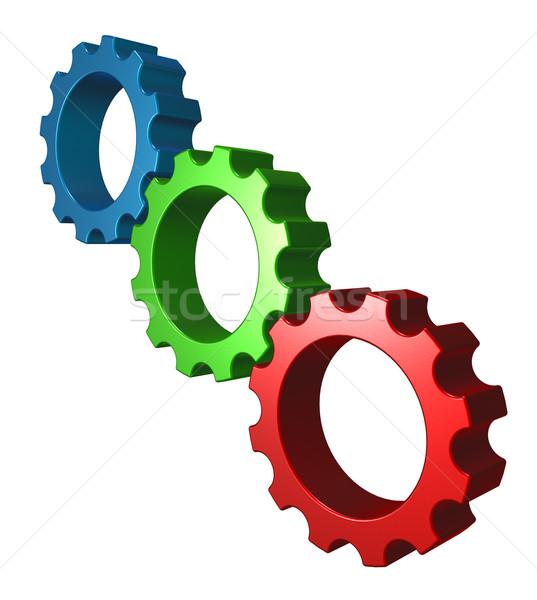 rgb gear wheels Stock photo © drizzd