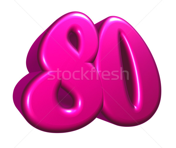 number eighty Stock photo © drizzd