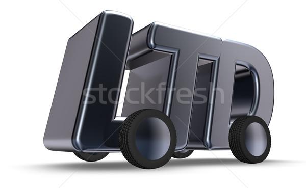 Tekerlekler harfler 3d illustration hukuk trafik şirket Stok fotoğraf © drizzd