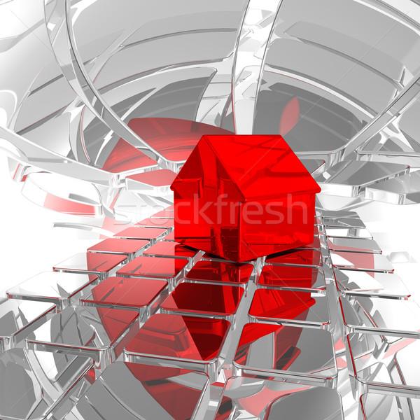 Scifi domu domu model futurystyczny przestrzeni Zdjęcia stock © drizzd