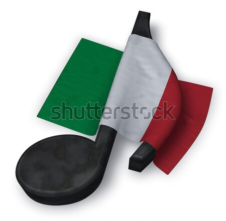 music note and italian flag - 3d rendering Stock photo © drizzd