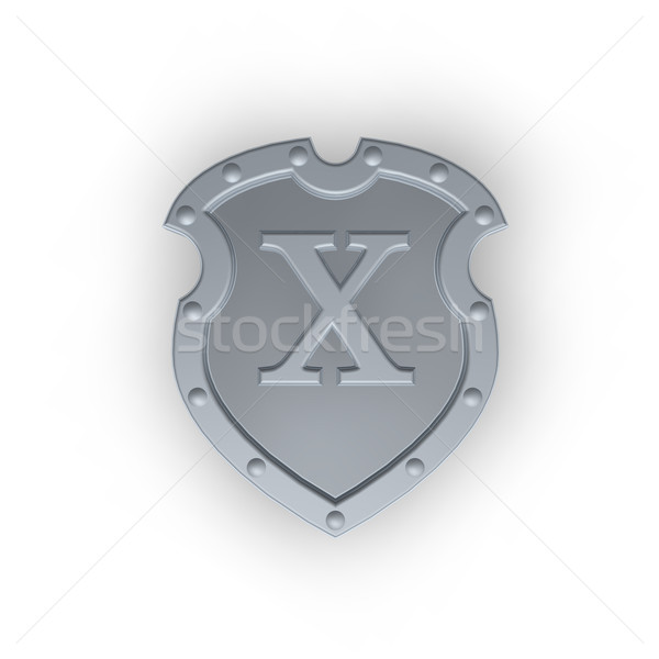 shield with letter X Stock photo © drizzd