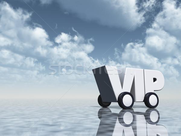 Vip weg wielen 3d illustration hemel wolken Stockfoto © drizzd