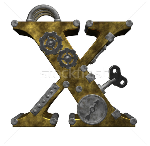 Steampunk lettre blanche 3d illustration horloge art Photo stock © drizzd