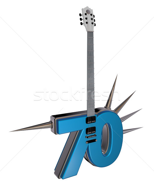 number seventy guitar Stock photo © drizzd
