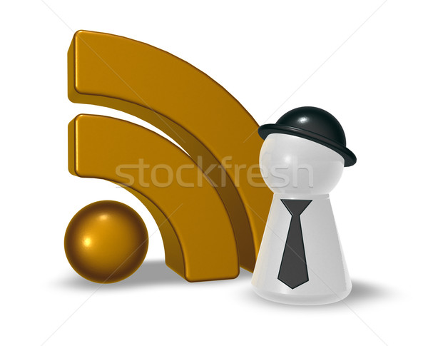 rss symbol Stock photo © drizzd