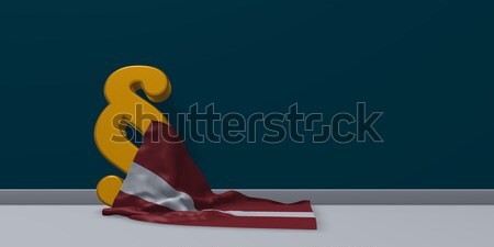 Paragraaf symbool vlag 3D Stockfoto © drizzd