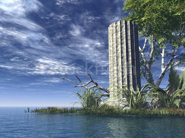 крушение старые океана 3d иллюстрации воды Сток-фото © drizzd