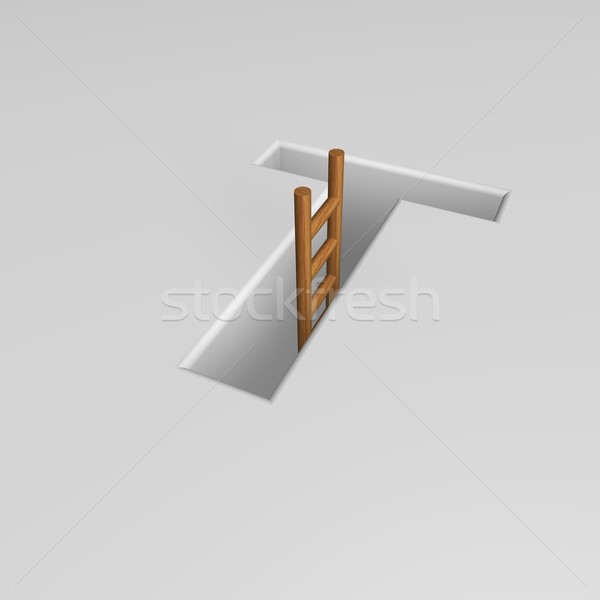 letter t and ladder Stock photo © drizzd