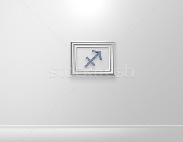 лучник фоторамка символ 3d иллюстрации кадр знак Сток-фото © drizzd