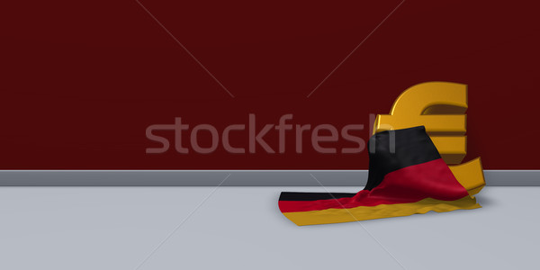 euro symbol and german flag - 3d illustration Stock photo © drizzd