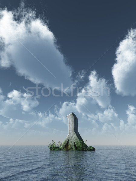 rune rock Stock photo © drizzd
