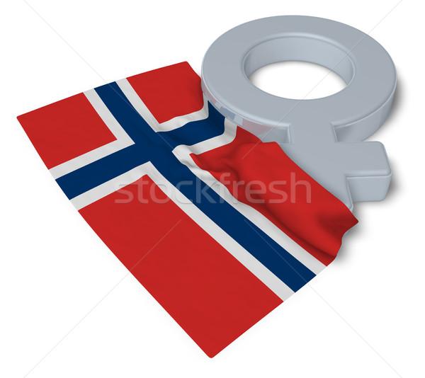 Kobiet symbol banderą 3D miłości Zdjęcia stock © drizzd