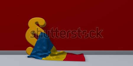paragraph symbol and flag of the ukraine - 3d rendering Stock photo © drizzd