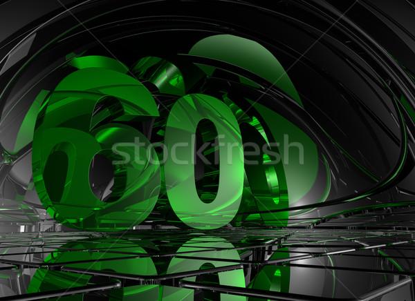 Aantal zestig abstract futuristische ruimte 3d illustration Stockfoto © drizzd
