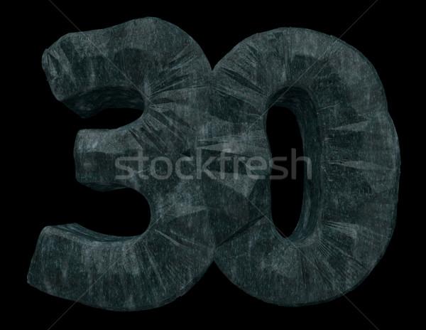 Numara otuz kaya siyah 3d illustration doğum günü Stok fotoğraf © drizzd