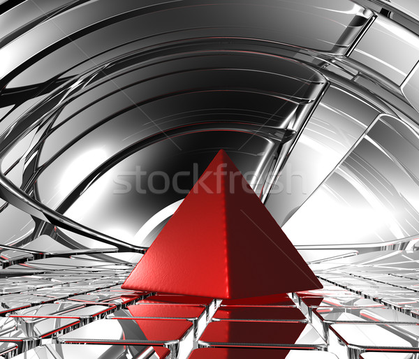 red pyramid Stock photo © drizzd