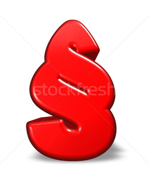 Karikatur Absatz Symbol weiß 3D-Darstellung Recht Stock foto © drizzd