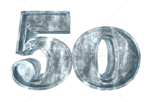 заморожены пятьдесят числа белый 3d иллюстрации рождения Сток-фото © drizzd