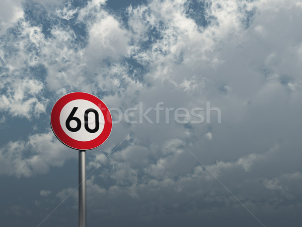 speed limit sixty Stock photo © drizzd