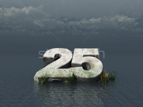 Húsz öt szám óceán 3d illusztráció természet Stock fotó © drizzd