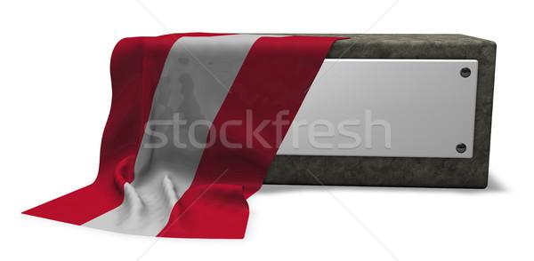 Taş soket bayrak 3D Stok fotoğraf © drizzd