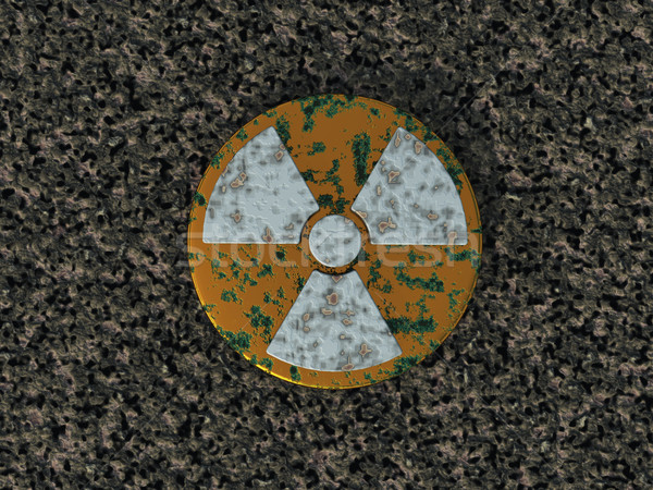 ядерной ржавые символ 3d иллюстрации технологий знак Сток-фото © drizzd