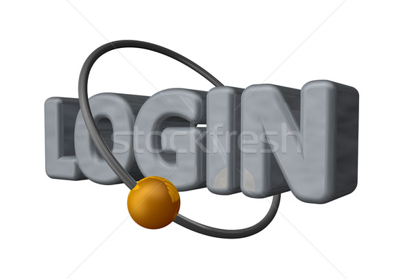 Login palla volare in giro parola Foto d'archivio © drizzd