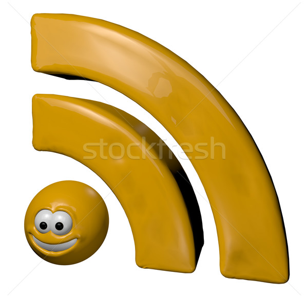 cartoon rss symbol Stock photo © drizzd