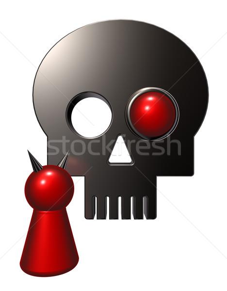 devil and skull Stock photo © drizzd