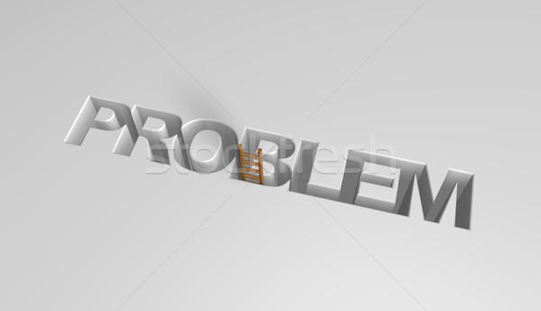 問題 言葉 はしご 3次元の図 穴 文字 ストックフォト © drizzd