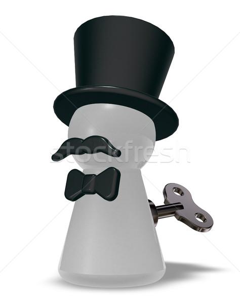 şapka sakal 3D Metal Stok fotoğraf © drizzd