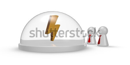 female symbol under glass dome and pawns with tie - 3d rendering Stock photo © drizzd