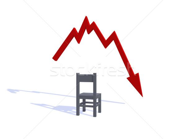 Kötü haber 3d illustration kırmızı başarı grafik ok Stok fotoğraf © drizzd