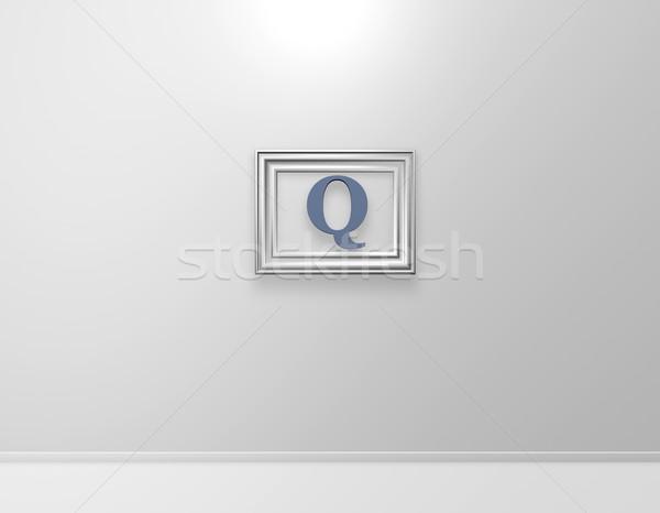q art Stock photo © drizzd