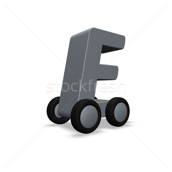 letter e on wheels Stock photo © drizzd