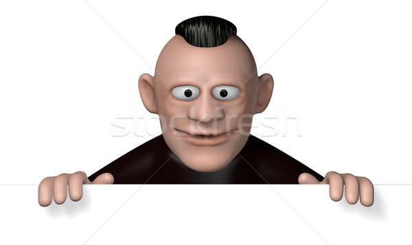 Rockabilly 3d illustration sourire homme Photo stock © drizzd
