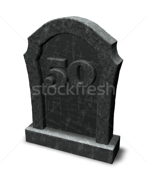 number on gravestone Stock photo © drizzd