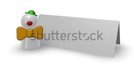 ピエロ ホワイトボード 3次元の図 にログイン 楽しい ストックフォト © drizzd