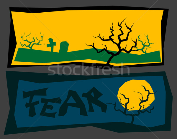 creepy banners Stock photo © drizzd