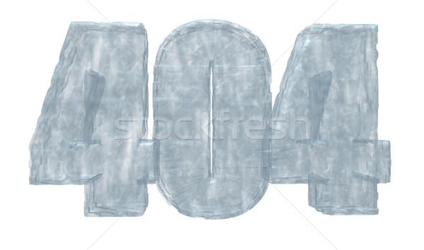Buz hata 404 numara mesaj 3d illustration Stok fotoğraf © drizzd