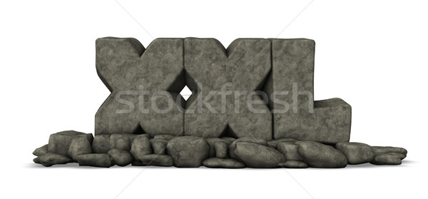 stone letters xxl on white background - 3d rendering Stock photo © drizzd