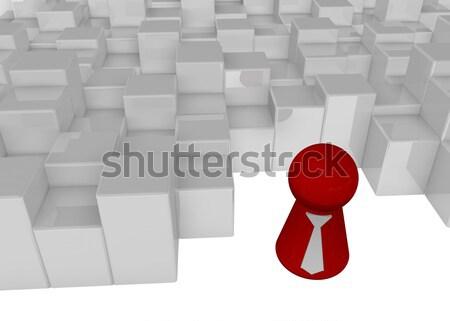 út megoldás kérdőjelek pont 3d illusztráció segítség Stock fotó © drizzd