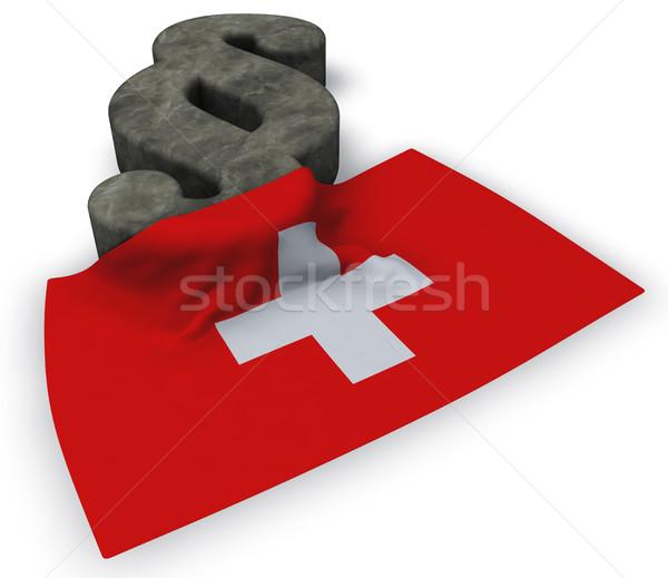 段落 シンボル フラグ 3D レンダリング ヨーロッパ ストックフォト © drizzd