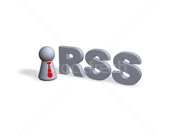 Rss szöveg 3D játék alkat piros Stock fotó © drizzd