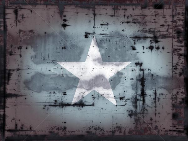 Grunge Somali banderą Afryki kraju antyczne Zdjęcia stock © drizzd