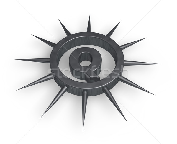 spiky letter q Stock photo © drizzd