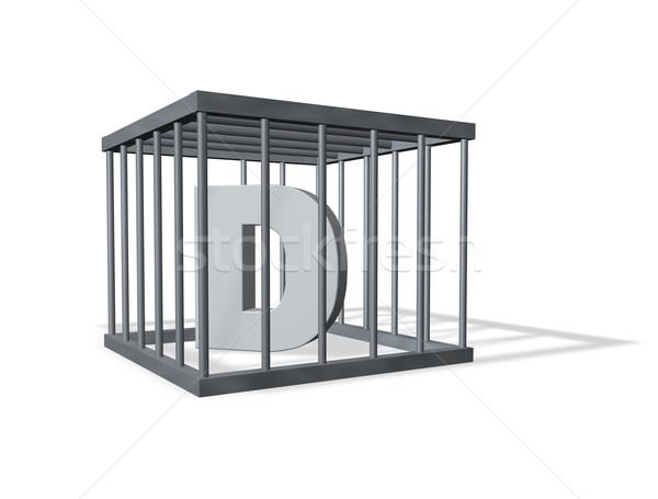 big D in prison Stock photo © drizzd